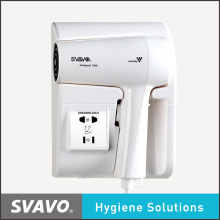 Svavo 1300W High Quality Hotel Bathroom Wall Mounted Hair Dryer with Shaver Socket