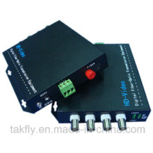 4 Channel 1080P Cvi/Tvi/Ahd Fiber Optical Video Converter