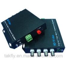 4 conversor de vídeo óptico da fibra do canal 1080P Cvi / Tvi / Ahd