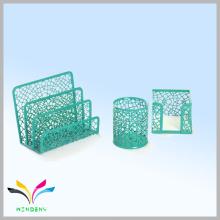 Зеленый металл с порошковым покрытием Eco содружественные канцелярские комплект