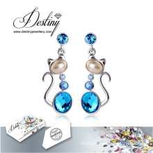 Destiny Jewellery Crystals From Swarovski Earrings Cat Earrings