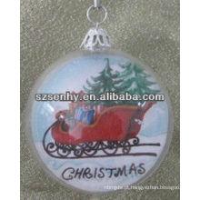Natal barato bola de plástico transparente
