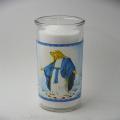 vela religiosa do frasco de vidro de 8 polegadas