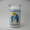 Best-seller em casa usa vela cerâmica frasco para vela votiva