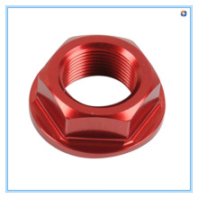 M8 Red Zinc Flange Nuts Made of Aluminum Materials