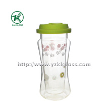 Double Wall Glass Bottle with Lid