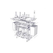 30kVA 15kV Transformateur de distribution immergé dans l'huile