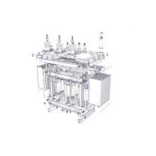 Transformador de distribución inmerso en aceite de 30kVA 15kV