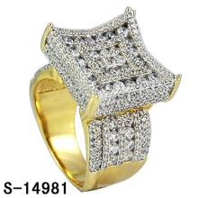14k vergoldet Modeschmuck Ring Silber 925