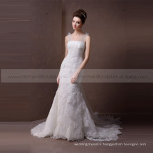Intellectuality Mermaid Style Boat Neck Lace Wedding Dress With Flowing Belt