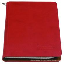 Cuaderno de tapa dura de alta calidad de cuero de PU