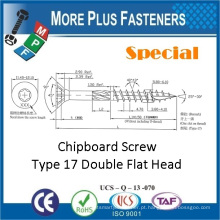Feito em Taiwan Double Flat Head Torx Drive Parafuso de agasalho especial Tipo 17 Parafuso