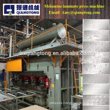 Double sides wood panel melamine sheet laminate hot press machine