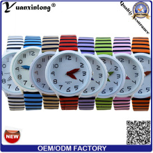 YXL-166 Fashion Quartz toile montres Sports Pen main Vogue poignet montre dames Zebra sangle robe montres manufacture