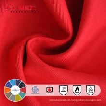100% Baumwolle schwer entflammbaren Stoff Kleidung und Arbeitskleidung