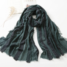 Autumn/Winter Collection Striped Wool Scarf