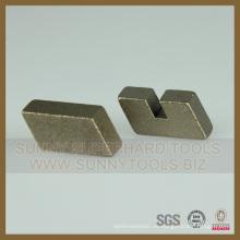 Segmento de corte de mármol con diamantes de larga vida útil