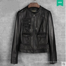 New Design Women′s Genuine Leather Jacket