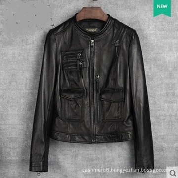 New Design Women′s Genuine Leather Jacket