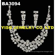 Conjunto de jóias de casamento adorável