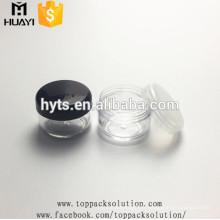 3g 5g 8g 10g 15g pot en plastique transparent pour cosmétique