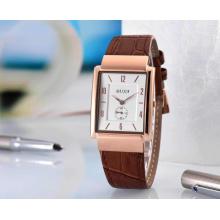Baijia Unisex Hochwertiges Lederband Quarts Uhr