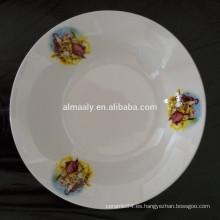 tazón de fuente de ensalada de cerámica respetuoso del medio ambiente