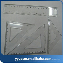 barato molde plástico da régua dos artigos de papelaria do escritório da escola