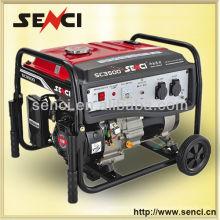 Venta caliente 50 / 60Hz chino original aire refrigerado generador de gasolina