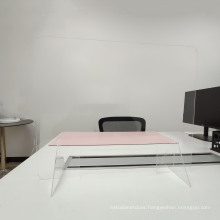 """24""""W x 30""""H Sneeze Guard for Counter and Desk, Freestanding Clear Acrylic Shield, plexiglass Shield"""