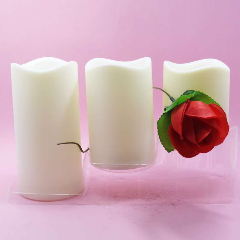 plastic shell candle