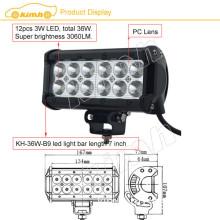 "Manufacture Brand chip 7"" 3060LM Brand led light bar 36w"