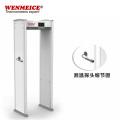 Puerta metálica de seguridad con detección de temperatura sin contacto