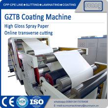 Máquina de revestimento de papel altamente brilhante GZTB