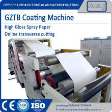 Máquina de revestimento de papel de alto brilho GZTB