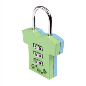 1-pack green coded padlock