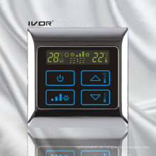 Interruptor táctil del termóstato del acondicionador de aire en marco del metal (SK-AC2000B)