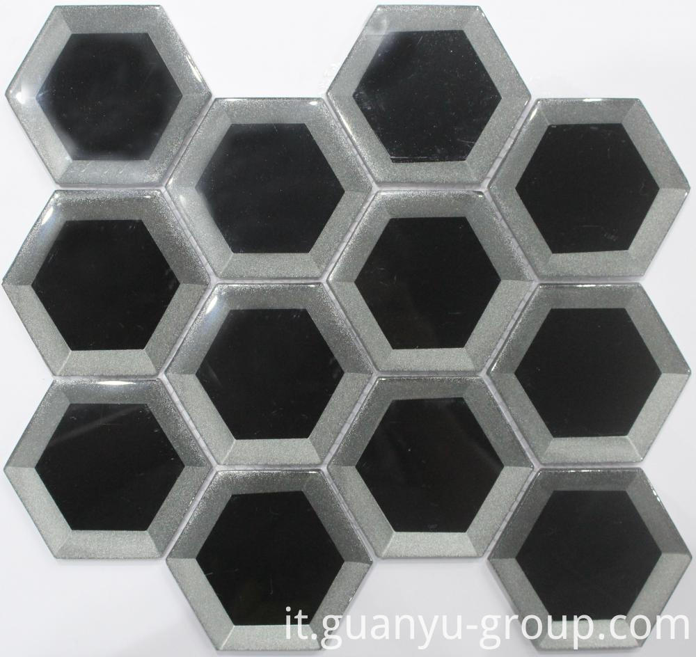 Silver and Black Cold Spraying Crystal Mosaic