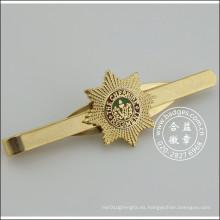 Clip de corbata de oro con insignia, alfiler de metal (GZHY-TC-071)
