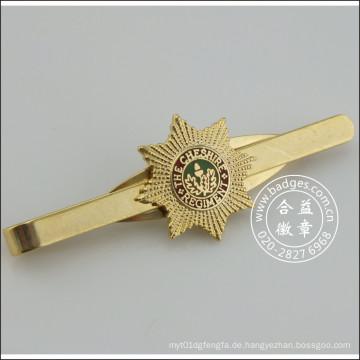 Gold Krawattenklammer mit Abzeichen, Metall Stickpin (GZHY-TC-071)