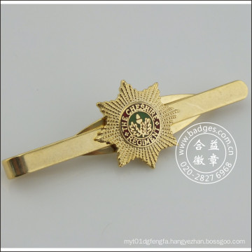 Gold Tie Clip with Badge, Metal Stickpin (GZHY-TC-071)