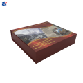 Exquisite red book shape wine box