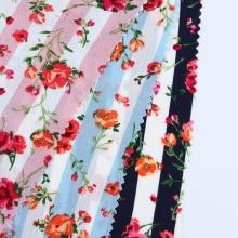 Custom Floral Printed Bubble Crepe Chiffon Fabric