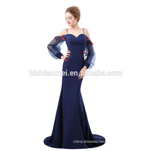 2018 Elegant sweetheart neckline mermaid evening gown with sleeves