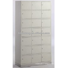 21-doors cupboard with stainless steel base for shoes