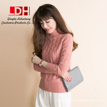 Cashmere Knitted 2017 Winter Thick knitwear Female Turtleneck Tops Standard inner Clothes