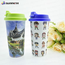Sunmeta New Arrival Hot sale High Quality Printing Sublimation Plastic Double Wall Mug