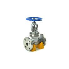 China fornecedor JIS 10 bar flange final manual de aço inoxidável válvula de globo y tipo
