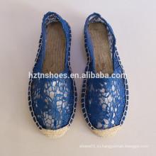 2016 дизайнер холст обувь для женщин espadrille обувь холст скольжения на обувь производитель