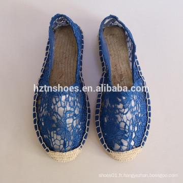 Chaussures de toile de designer 2016 pour femme en espadrille chaussures en toile sur le fabricant de chaussures